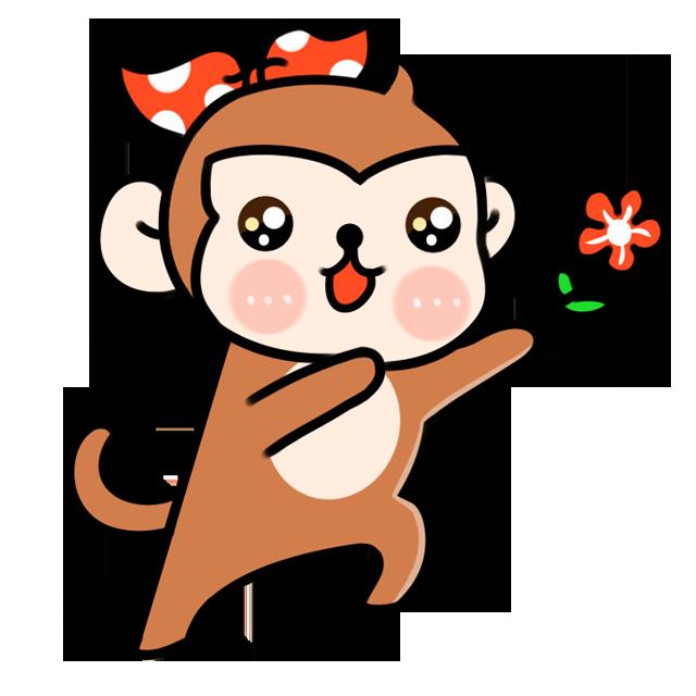 小猴笔画漂亮可爱
